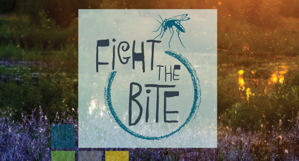 Fight the bite - mosquito awareness text
