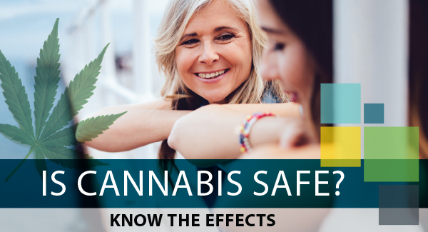 Photo of a mother and daughter with is Cannabis safe text