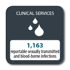 1163 reportable sexually transmitted and blood-borne infections in 2016