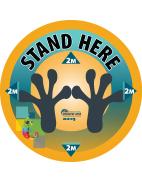 Stand Here Floor Sticker