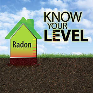 Radon - Know Your Level campaign graphic