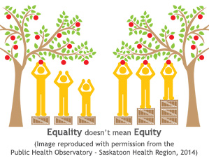 Graphical representation of health equity
