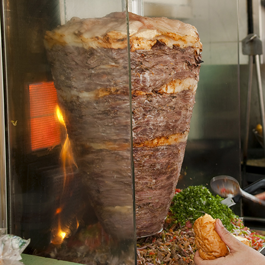 A picture of shawarma.