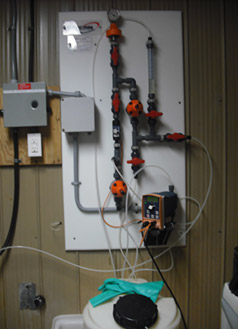 Photo of a chlorinator system