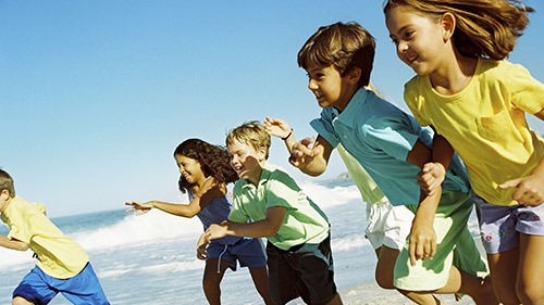 Photo of children running