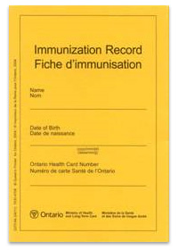 Photo of Immunization Record booklet