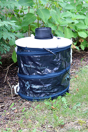 Photo of BG Sentinel 2 mosquito trap - click to view full size image