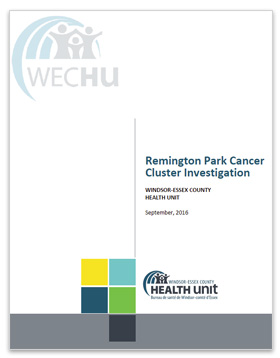 Remington Park Cancer Cluster Investigation Report - cover image