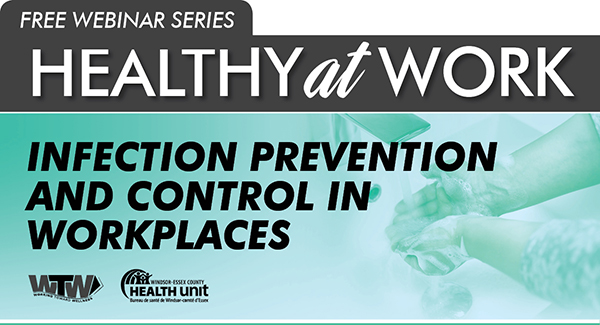 Infection Prevention Control in workplaces webinar banner