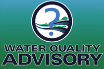 Beach Water Quality Advisory sign
