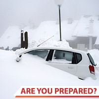 Photo of a car buried in snow