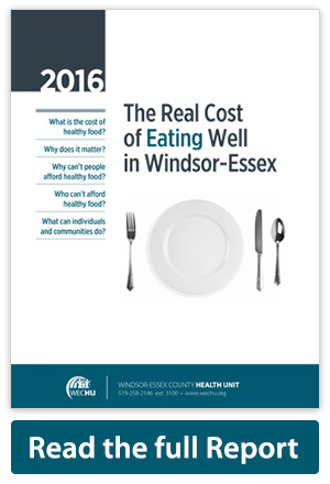 Cover of Real Cost of Eating Well in Windsor-Essex report